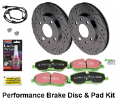 KIT229P Performance Rear Disc & Pad Kit Range Rover L322 3.6 & 5.0NA